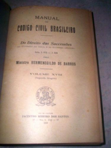 do direito das sucessões hermenegildo de barros 1929