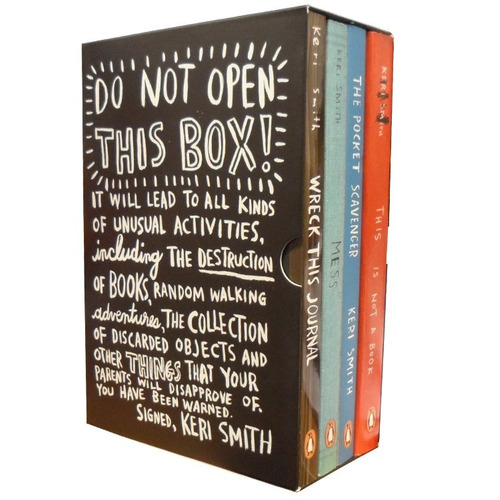 do not open this box ! keri smith la caja contiene 4 libros