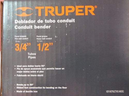doblador de tubo de 3/4 pulgada truper codigo: dotu 5075