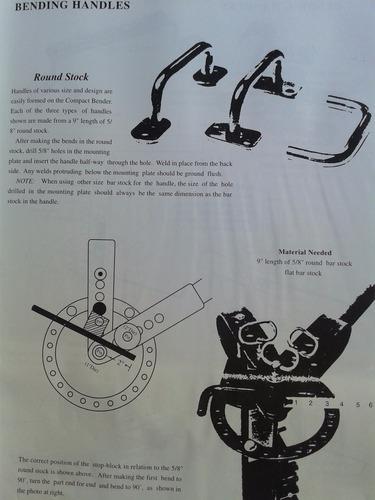 dobladora manual de fierros y pletinas - ferrymaq