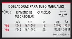 dobladora para tubo hidraulica urrea manual doblador - 765