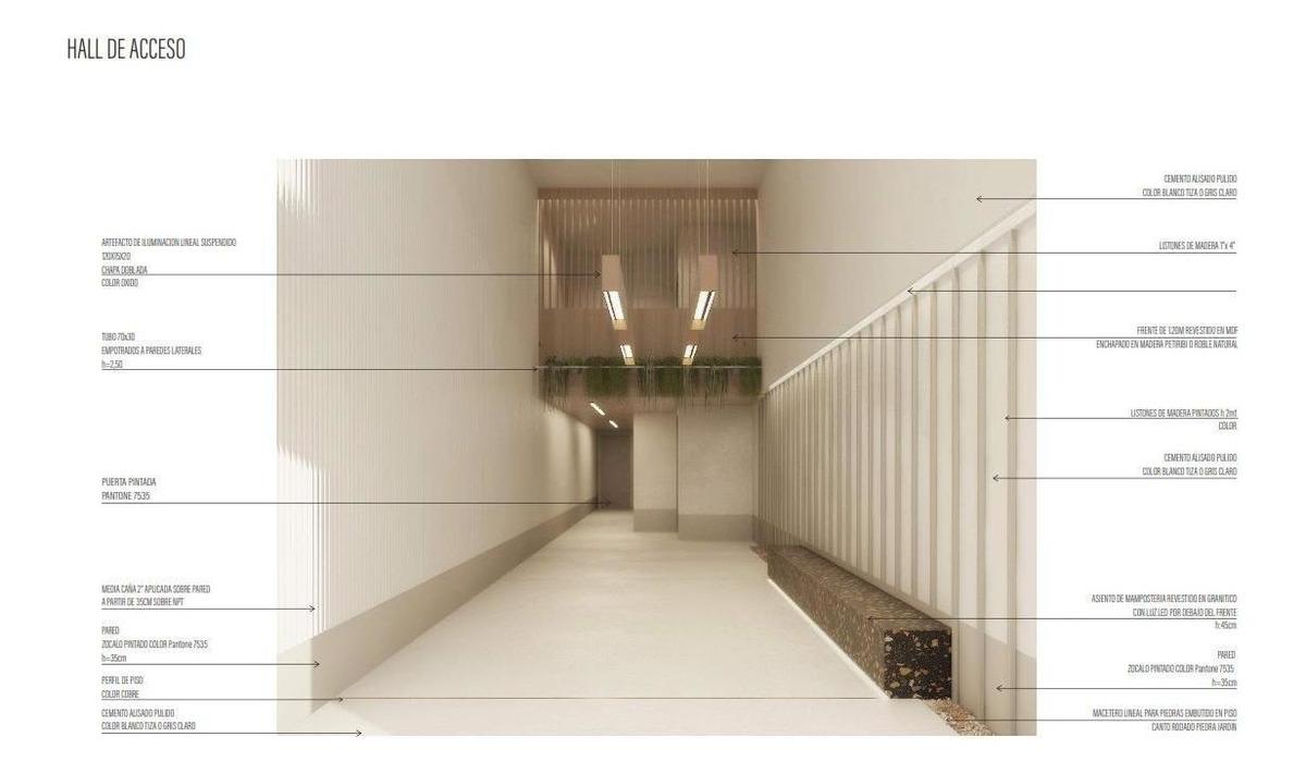 doblas 848 4c/ departamento de 2 amb a estrenar al frente con balcon c/full amenities- caballito