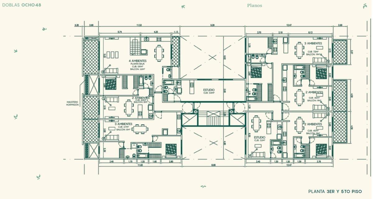 doblas 848 6g/ departamento de 2 amb al cfte c/full amenities- caballito