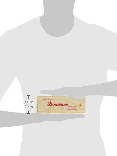 doble 6 fichas profesionales de domino con hilandera en caja