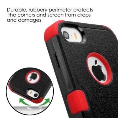 doble capa híbrida duro pc/silicona funda para apple iphone