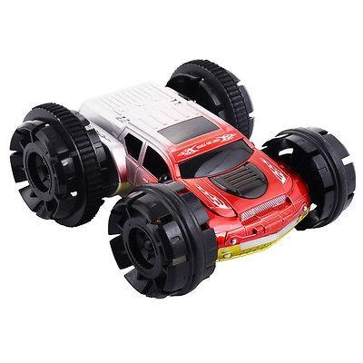 doble cara control remoto stunt coche rc 360 grados girar