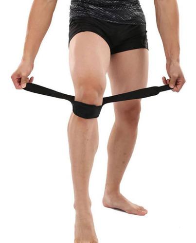 doble cinta rotuliana para rodilla ajustable de neopreno