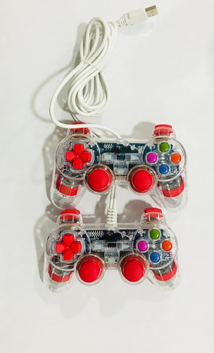 doble control usb 2.0 joypad gamepad 15 botones cu pc laptop
