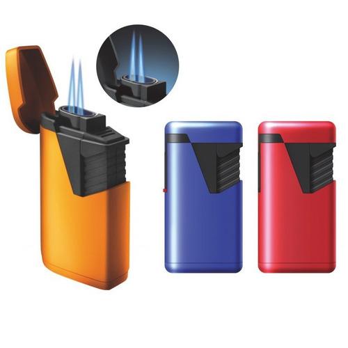 doble llama jet puros encendedor azul habano fumar cigarro