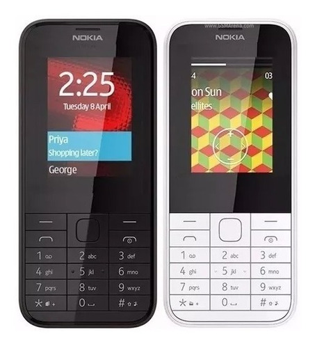 doble sim telefono celular nokia 225 camara flash