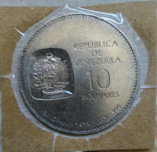 doblon de plata , 10 bolivares 1973