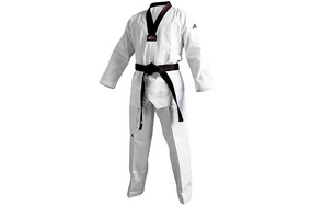 Adidas Wtf Dobok Palo Traje Taekwondo Gi Adulto Niño Blanco Y Negro Boxing, Martial Arts & Mma Other Combat Sport Supplies