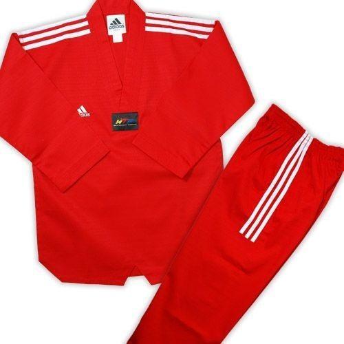 dobok adidas de taekwondo color rojo talle 190 cm
