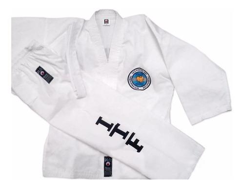 dobok taekwondo itf talles 5 a 7 traje shiai uniforme adulto