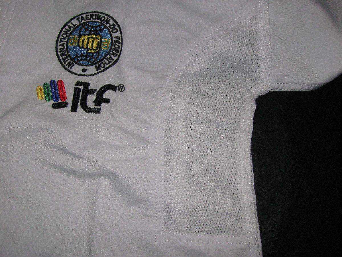 Dobok Uniforme Taekwondo Itf 7° A 9° Dan Top Pro 360 Zero