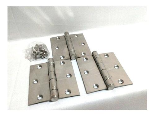 dobradiça aço com rolamento 3 1/2 x 3 jogo com 3pçs