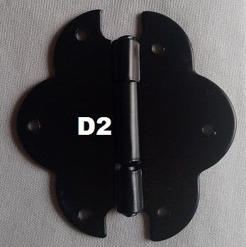 dobradiça ou puxador colonial rustico preto - 1 pç