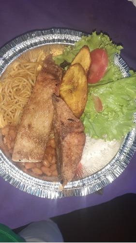 dobradinha ,bife acebolado,peixe frito