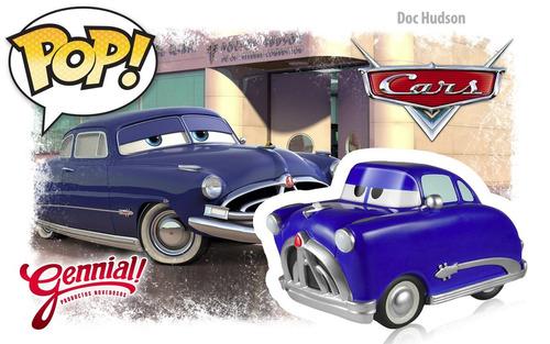 doc hudson cars 130 pop funko disney pixar gennial