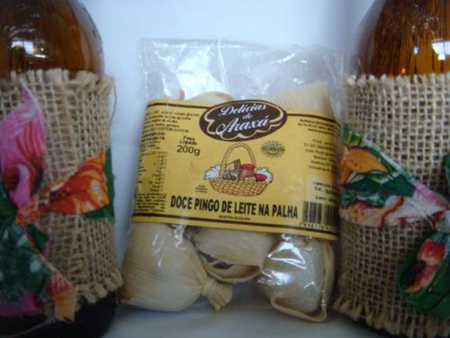 doce de pingo de leite na palha delicias do araxá