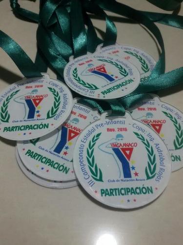 docena (12) medallas 3mm acrilico grabado en laser trofeos