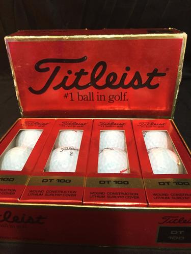 docena de pelotas de golf titleist dt 100. nuevas vintage