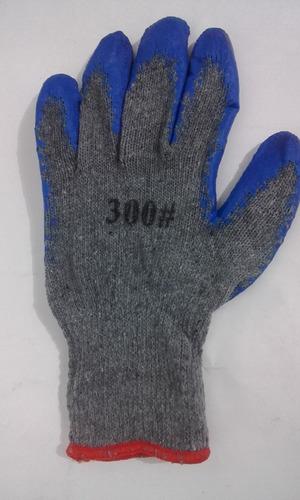 docena guantes de seguridad en hilaza y pvc corrugado