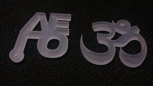 docenas de dijes acrílicos espejos personalizados 1cm