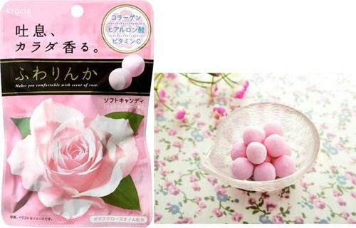 doces japoneses - kracie - balas de rosas - beauty rose