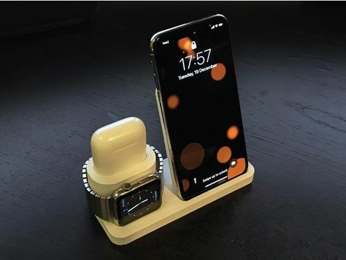 dock de mesa para iphone x/xs  + airpods + apple watch