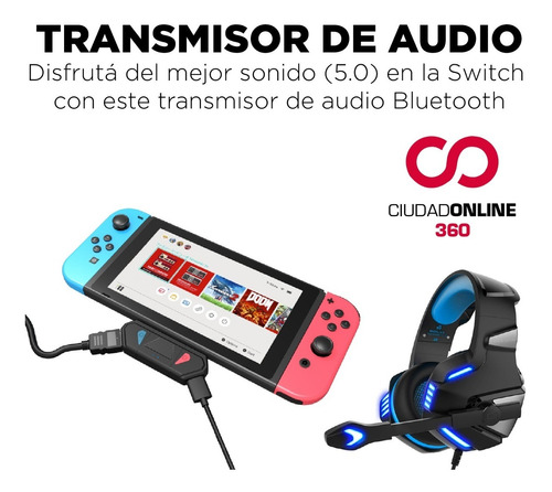 dock nintendo switch portatil bluetooth audio video hdmi