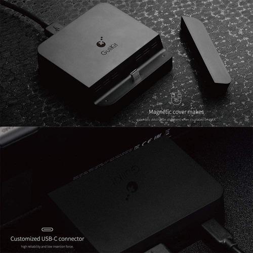 dock nintendo switch portatil gulikit mini hdmi carga tv