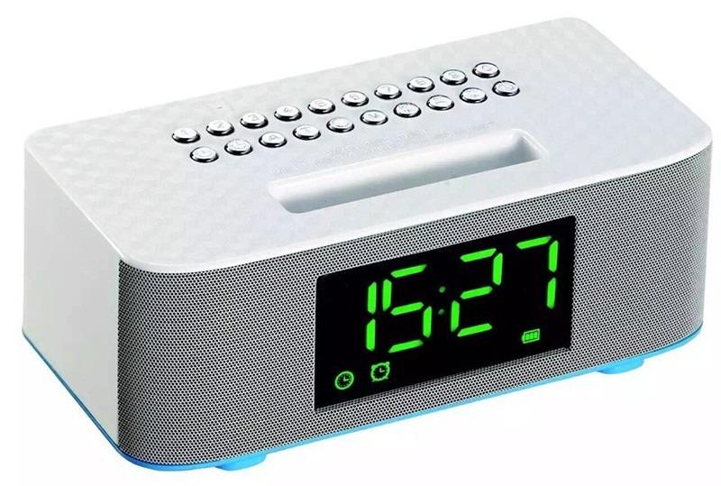 a13b87d381f dock rádio relógio digital despertador bluetooth mp3 usb sd. Carregando  zoom.