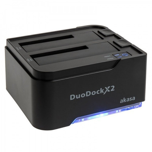 dock station duo para 2 hds 3,5/2,5/ssd usb 3.0 akasa