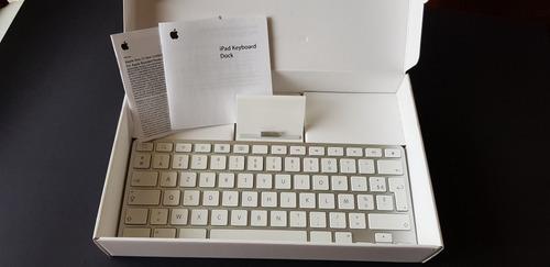 dock station+teclado ipad 1/2/3 - layout francês - pouco uso