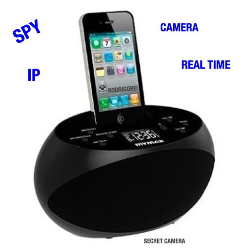 dock station wi-fi espiao c/camera ip tempo real  p/celular