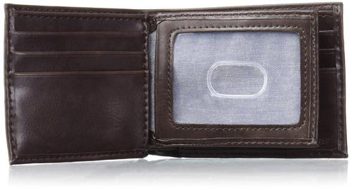 dockers - billetera extraplana extra capacidad para hombres,