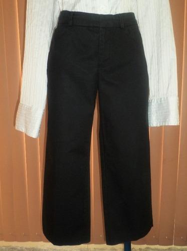 dockers capri negro talla 30 tela  algodon / poliester