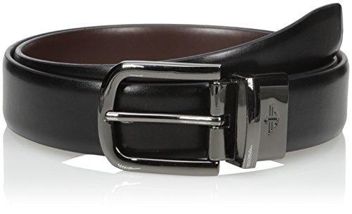 dockers men's 1 cinturón reversible de 4 pulgadas con bordes