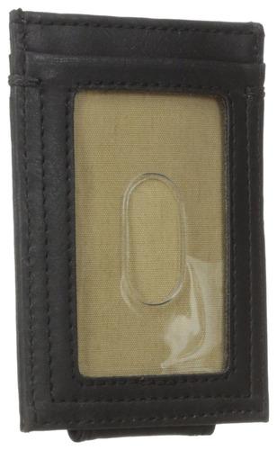 dockers men's slim series card holder con clip magnético par