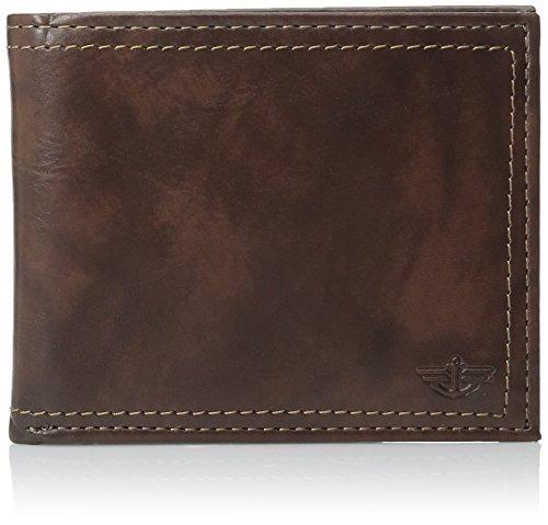 dockers slim pocketmate wallet con caja de tarjeta extraíble