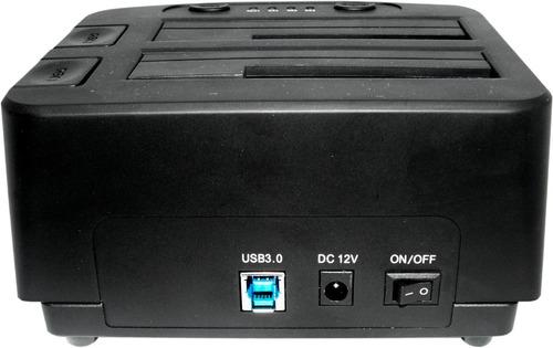 docking de discos 2,5 y 3,5 usb 3.0 nisuta ns-dohd2 clonador