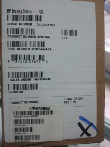 docking station hp elitebook series 6500/6700 nueva original