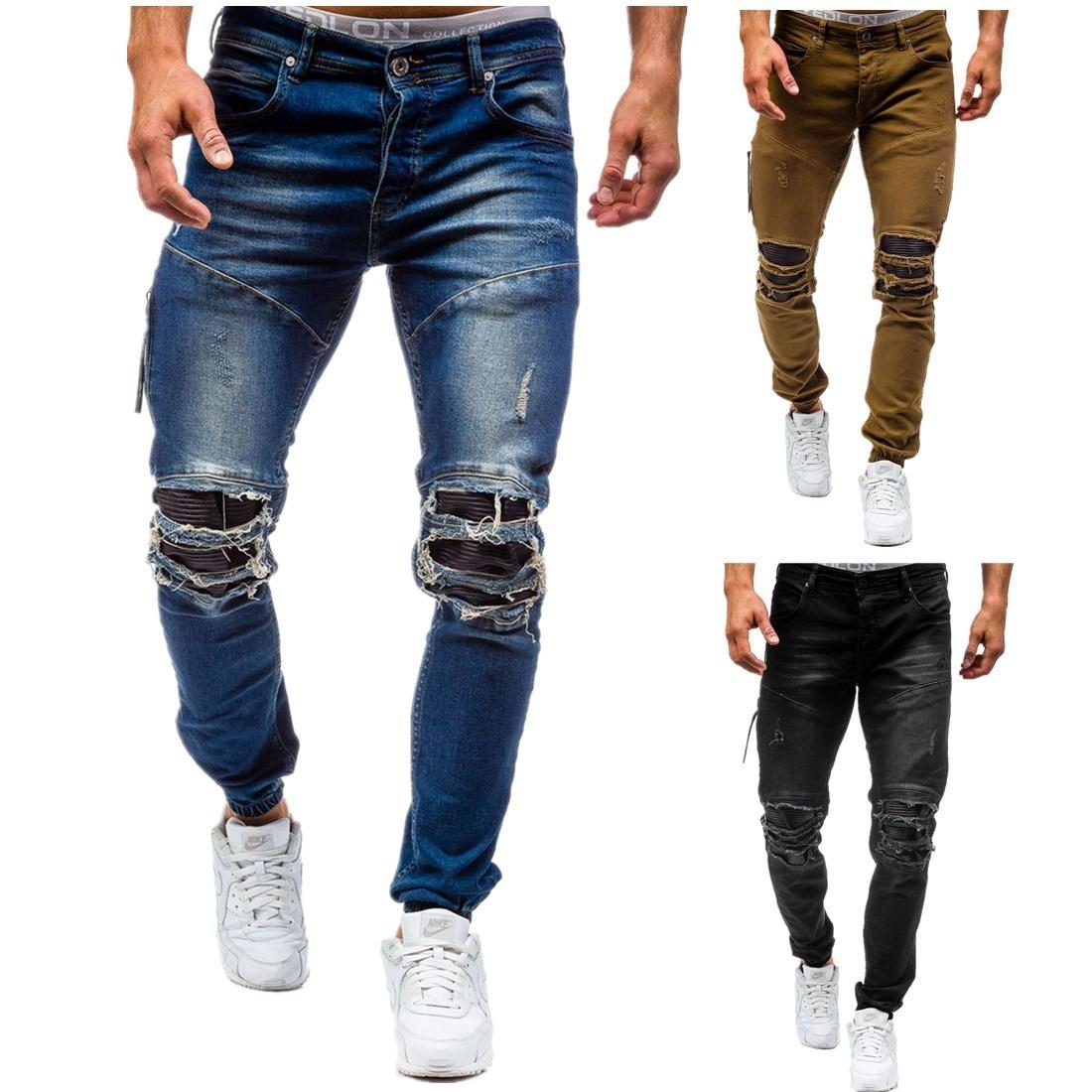 793adf44eb Primavera Primavera De Mezclilla Hombre Docto Moda 2018 Pantalones xFBRpqAwg