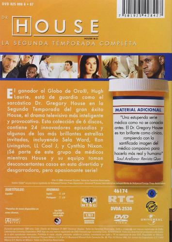 doctor dr house segunda temporada 2 dos  dvd