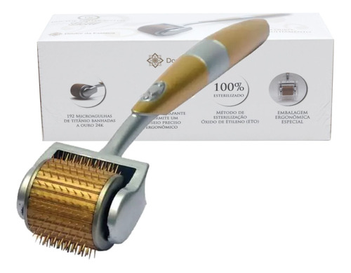 doctor roller gold -  192 agulhas ouro - kit com 3 unid
