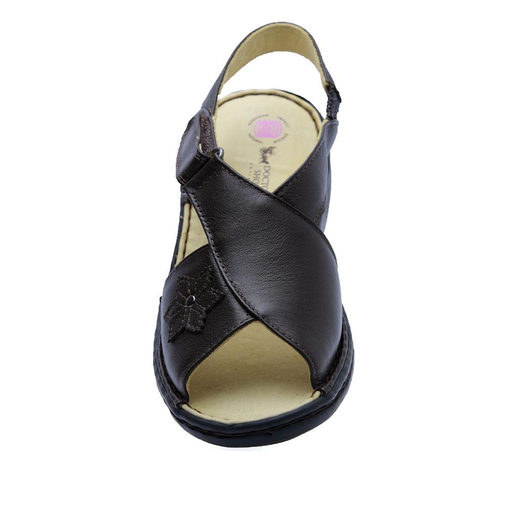 doctor shoes sandália. Carregando zoom... sandália feminina em couro café  ... 0621d194a020f