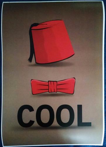 doctor who / cool fez bow - póster 48x33cm enmicado