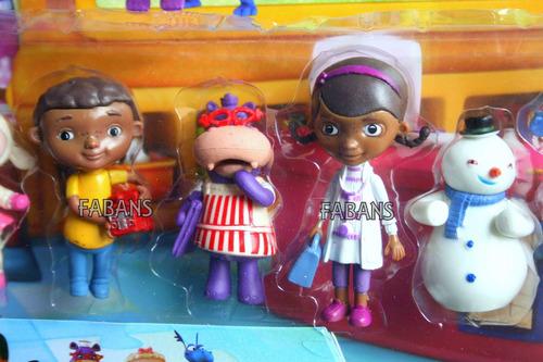 doctora de juguetes muñeca set 6 figuras lambie felpita niña