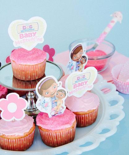doctora juguetes mesa de dulces, golosinas, cupcakes